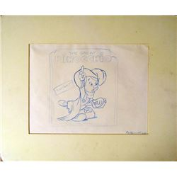 The Great Pinocchio Original Animation Drawing