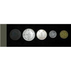 5 Old Coins From Hong Kong