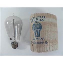 Antique ComEd Mazda Working Tip Light Bulb w/ Orig Pkg