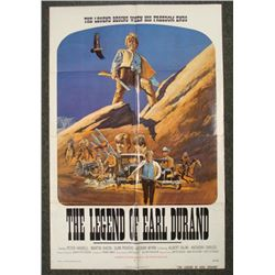 Legend of Earl Durand Orig 1S Western Movie Poster 1974