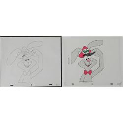 Rabbit Original Cel Drawing Animation Hat Cereal Trix