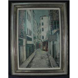 Utrillo .V. Oil on Board Painting Art