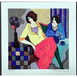 Itzchak Tarkay Signed Ltd Ed Art Print Sisters
