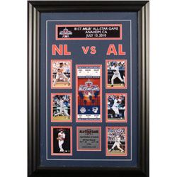 Framed 2010 81st All-Star Game - Cards and Ticket