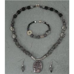Botswana Agate Flower Pendant, Necklace,Earrings,Braclt