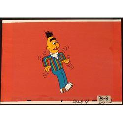 Bert Sesame Street Animation Cel Orig Background Art