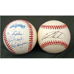Rick Dempsey and Rick Hoiles Signed Baseballs Orioles