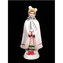 Girl Porcelain Figurine Made in Occupied Japan WWII Era