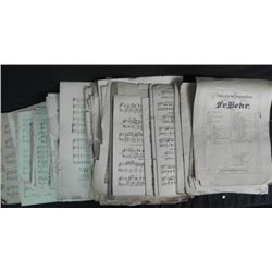 One Large Treasure Trou of 1800's Music, Sheets & Books