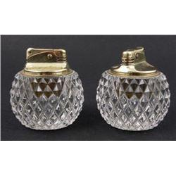 2 Focke & Meltzer Crystal Vintage Lighters