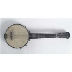Vintage Small Banjo Mini Musical Instrument