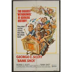 Bank Shot Original 1S Movie Poster 1974 George C. Scott