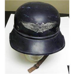 German Wehrmachtsgefolfe Luftschutzwarndienst Helmet