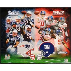 Super Bowl XLVI Giants vs Patriots LE Collage Photo