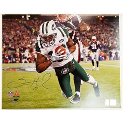 "Signed Santonio Holmes 10 New York Jets 16"" x 20"" Photo"