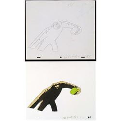 Herculoids Drawing Animation The Wind Up Cel Original