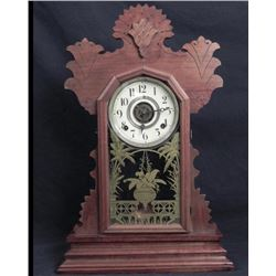 Antique Victorian Gingerbread Mantle Clock-Buzzer Alarm