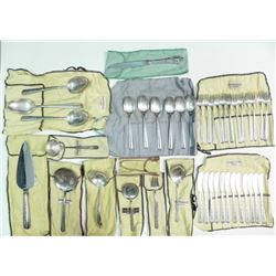 41 Piece Towle Sterling Silver Rambler Rose Flatware