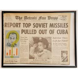 Report Top Soviet Missiles Pulled Out of Cuba Newspaper