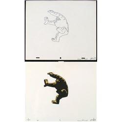 Original Crashing Down Herculoids Drawing Animation Cel