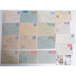 Lot of 17 Authentic Letters from Different WWII Militar