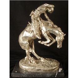 Frederic Remington Sculpture Cowboy on Horse