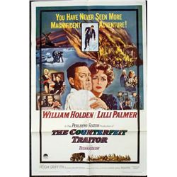 Willam Holden The Counterfeit Traitor 1962 Movie Poster