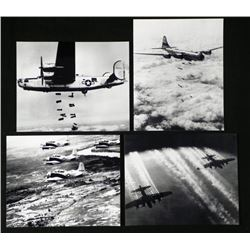 4 Famous Aircrafts Photos WWII B-24, A-1E, B-29 Boeing