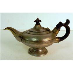 Antique Pewter 1 Serving Bachelor Teapot England c 1825