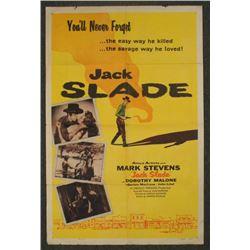 Jack Slade Orig 1 Sht Cowboy Western Movie Poster 1953