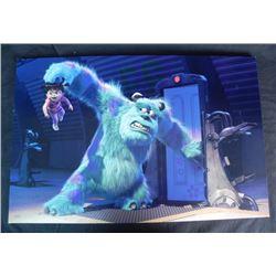 Monsters Inc Disney LE Animation Art Canvas Print No. 1