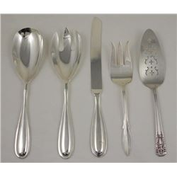 5 Pc Serving Silver Plate Bodinger, Rogers, Harmony