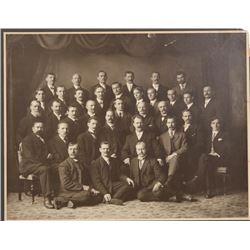 Antique Black & White Photographic Print - Group of Men