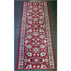 Vintage Oriental Wool Hallway Runner Rug