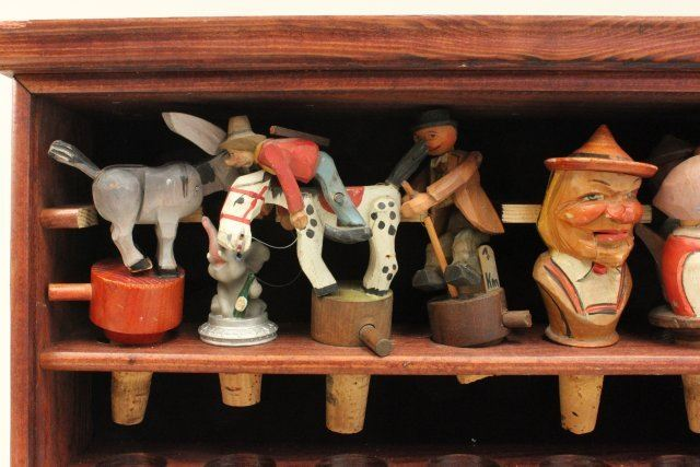 Collection of Continental Wood Bottle Stoppers