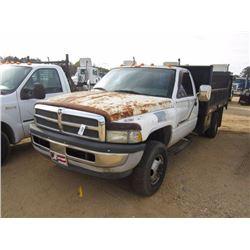 1996 dodge ram 3500 flatbed truck s n 1b6mc3654tj128564 v8 magnum gas eng a t 12 39 flatbed body w jm wood auction