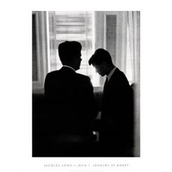 Jacques Lowe John F. Kennedy and Bobby 1960 Photo Print