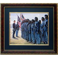 Mort Kunstler Civil War Print Framd 54th Black Regiment