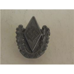 NAZI HITLER YOUTH 1941 RALLY PIN-HJ DIAMOND W/SWASTIKA
