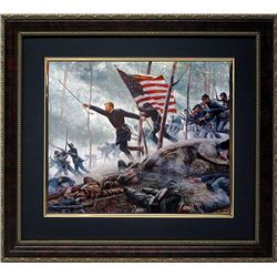 Mort Kunstler Civil War Print Framd Chamberlains Charge