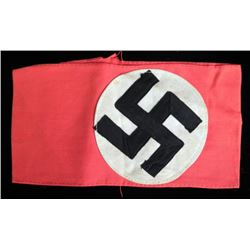 NAZI EARLY NSDAP PARTY ARMBAND-W/RZM TAG-ORIGINAL