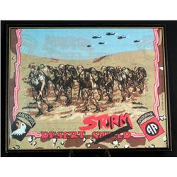 Framed Desert Storm Handkerchief