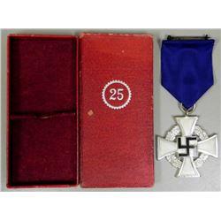 BOXED NAZI 25 YEAR FAITHFUL SERVICE AWARD-ORIGINAL-MINT
