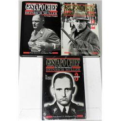 3) NAZI HEINRICH MULLER-GESTAPO CHIEF BOOKS-VOL.1,2,3