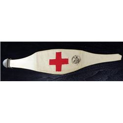WWII FRENCH RED CROSS ARMBAND - MINISTERE DE LA GUERRE