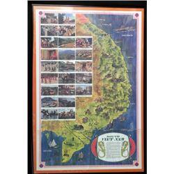 South Vietnamese Map Framed