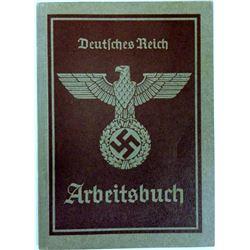 NAZI ARBEITSBUCH -MAN FROM VIENNA-MANY ENTRIES