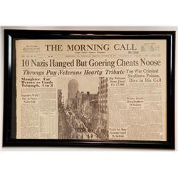 """10 Nazis Hanged But Goering Cheats Noose"" Newspaper"