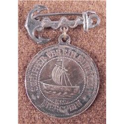 "1900 IMPERIAL GERMAN NAVAL MEDAL-SILVER""SCHIFFERVEREIN"