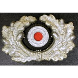 NAZI WEHRMACHT VISOR COCKADE AND WREATH ORIGINAL